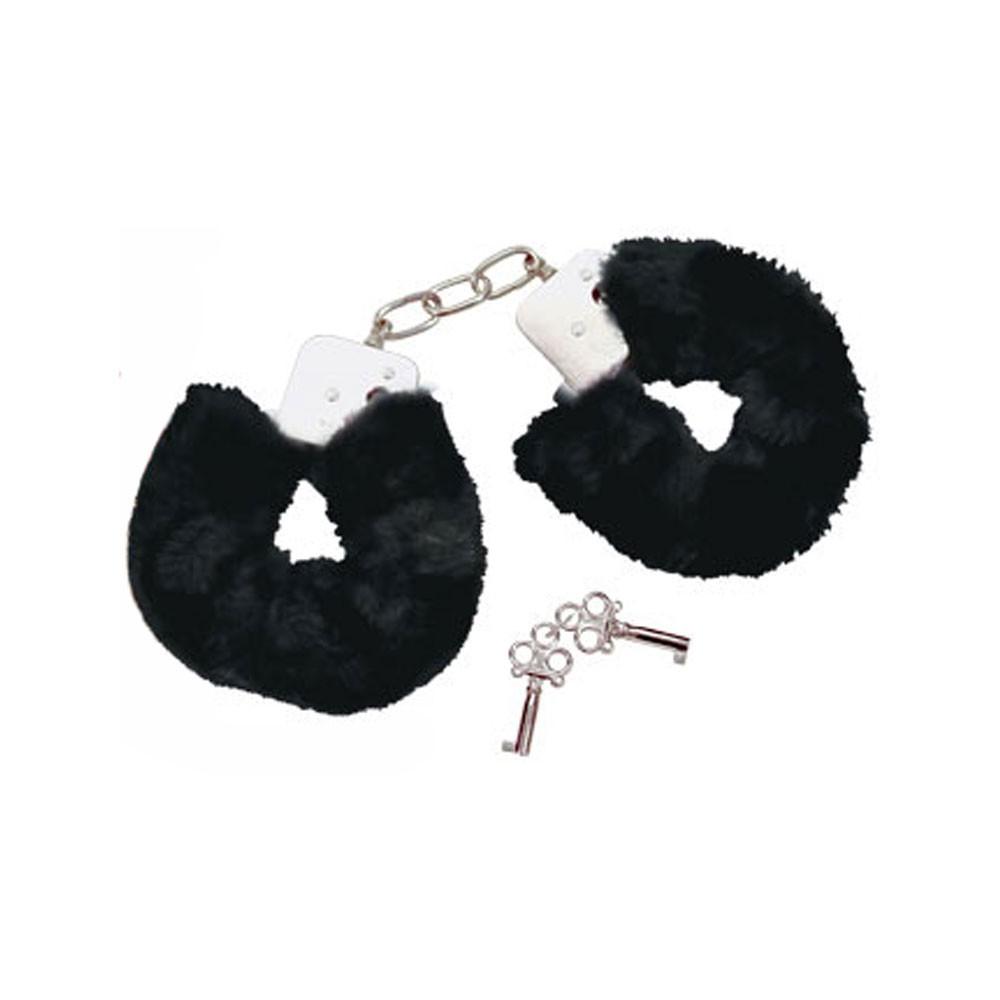 Bad Kitty Plüsch Handschellen - schwarz