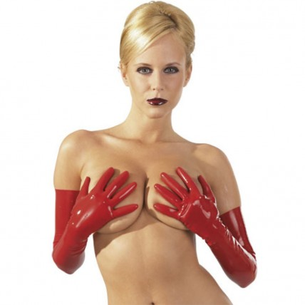Latex Handschuhe - rot